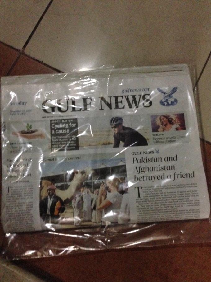 Gulf News bashing Pakistan